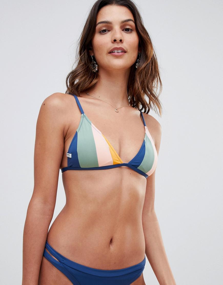 d9f592d78f8bf Rhythm - Blue North Shore Bralette Bikini Top In Navy Stripe - Lyst. View  fullscreen