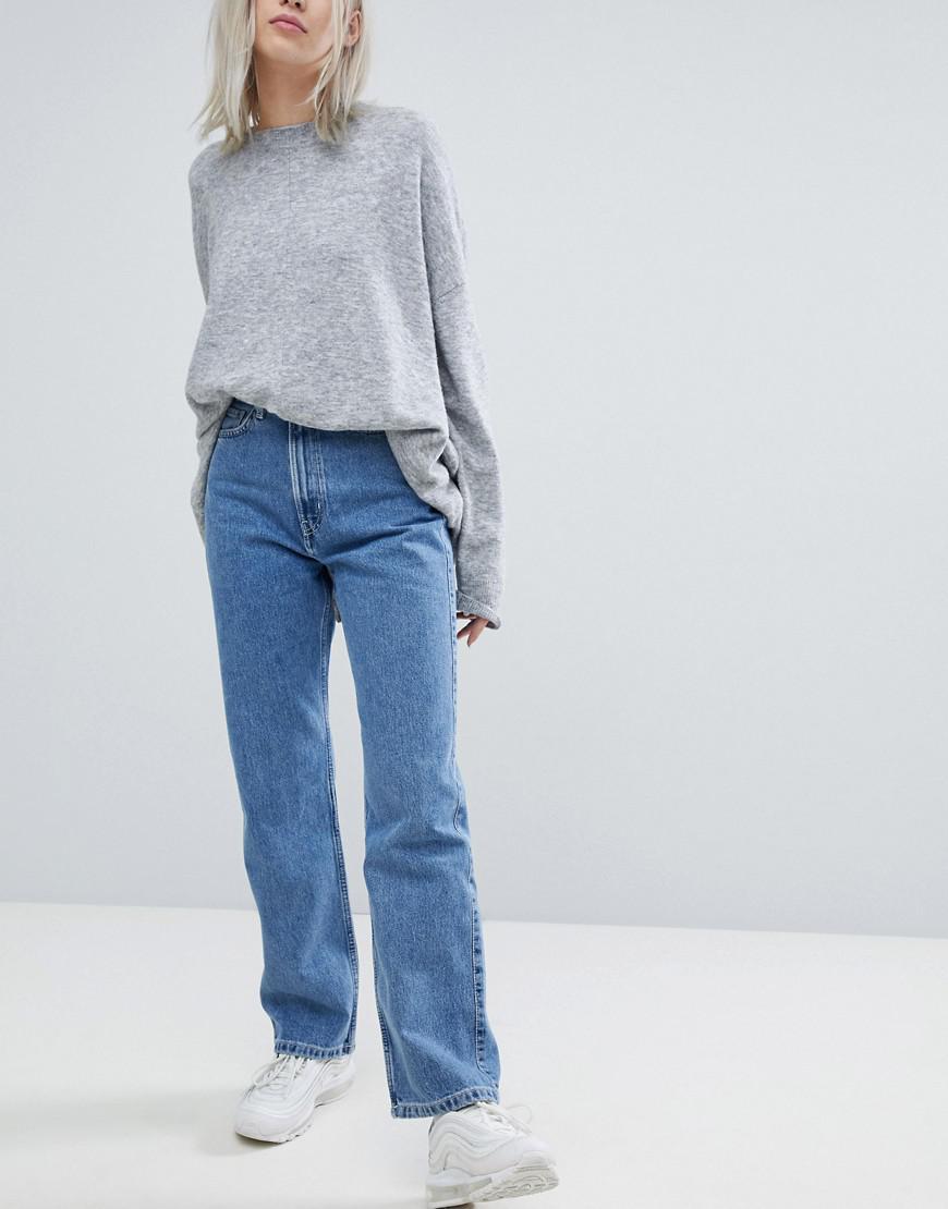 Jeudi Taille Haute Maigre Jean - Bleu Semaine Réutilisé GvKNYODqZX