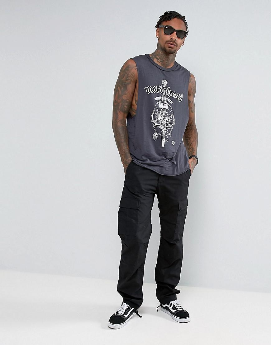 52d514b4264c ASOS Motorhead Sleeveless Band T-shirt With Dropped Armhole And ...