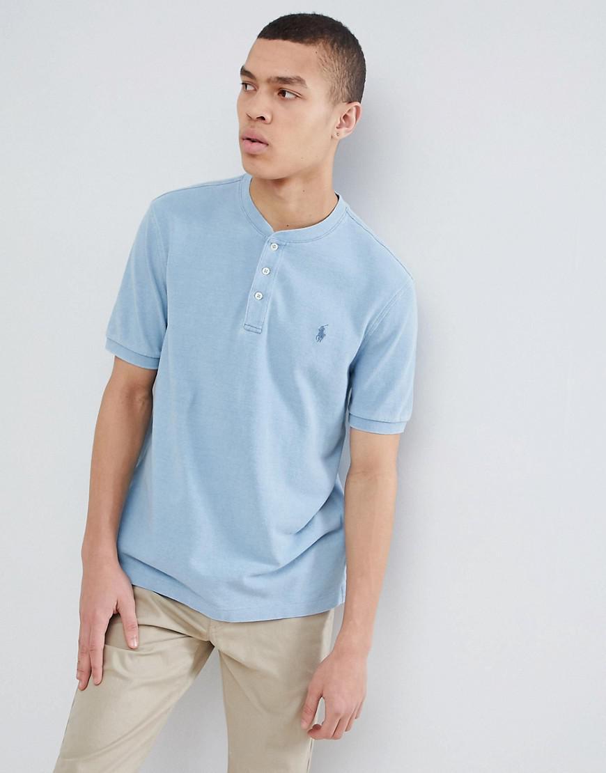 a877ac4b8605f9 Polo Ralph Lauren. T-shirt en piqu col tunisien avec logo joueur de polo  homme ...