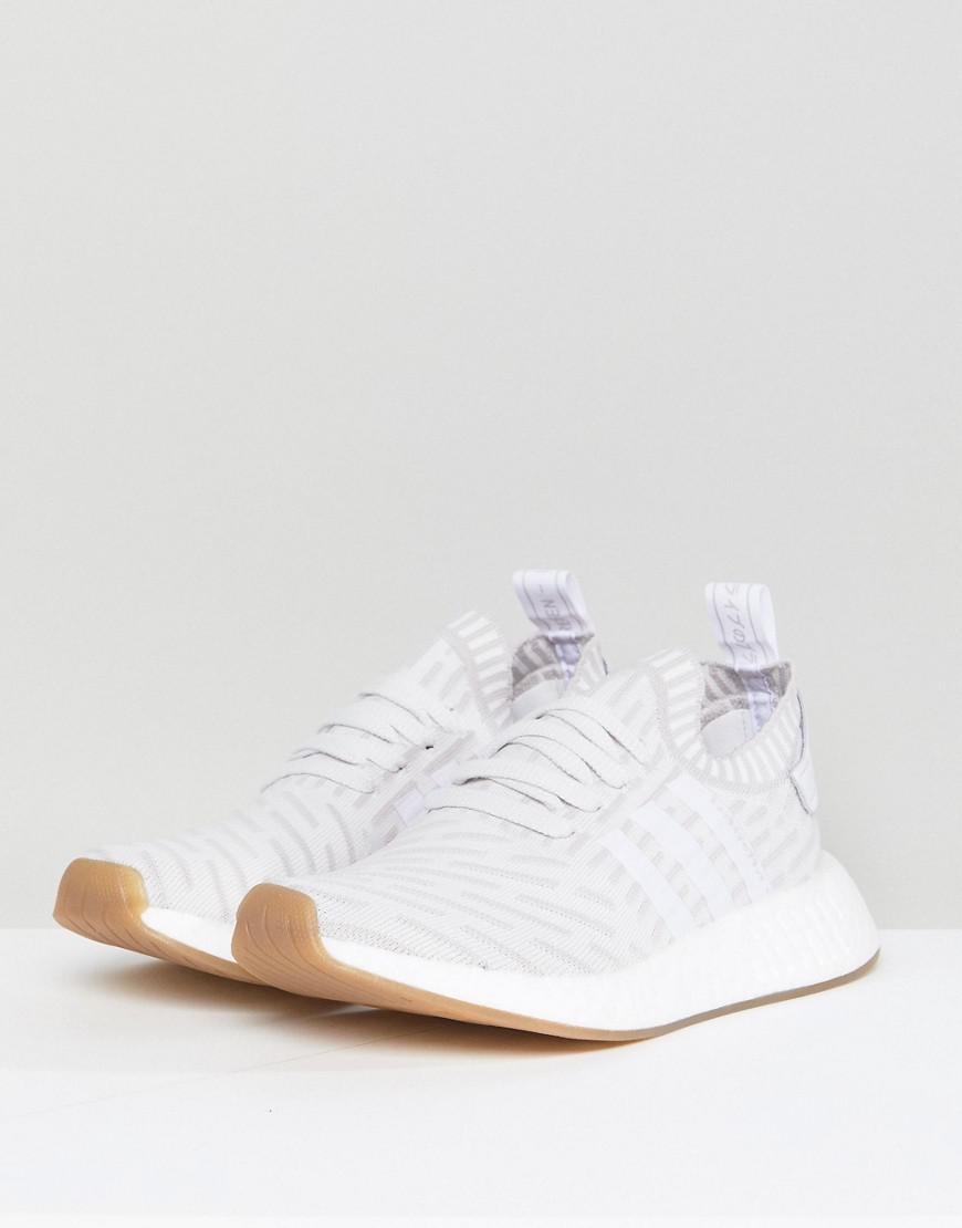 c4b11b7dbfaf23 adidas Originals Originals Nmd R2 Trainers In White in White - Lyst