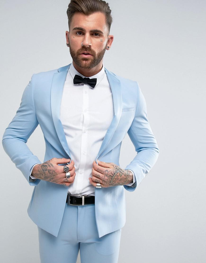 Asos Super Skinny Tuxedo Prom Suit Jacket With Satin Lapel