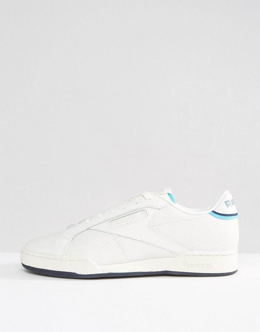 fb2443e9907 Reebok Npc Tennis Pack Trainers In White Bd2884 in White for Men - Lyst
