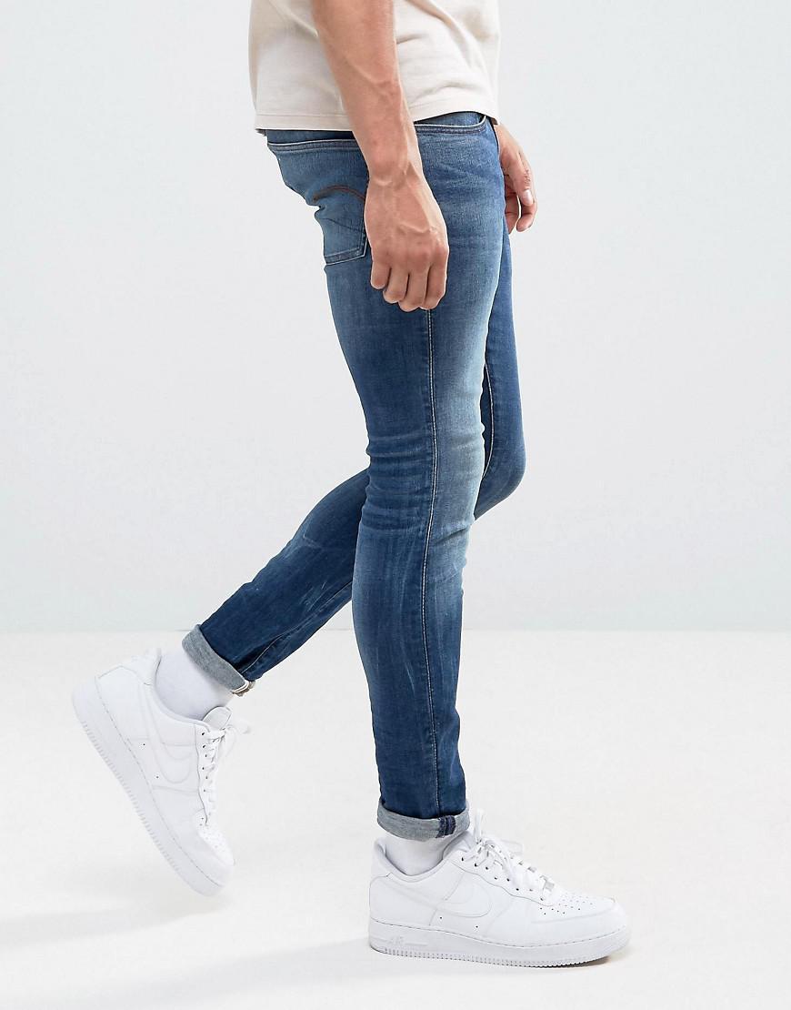 Slim 3301 Jeans G Indigo Star Super Raw Deconstructed Medium Lyst wknOP8X0