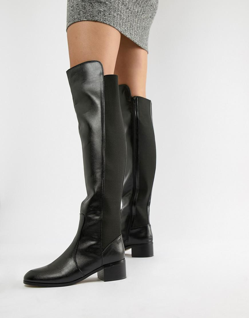 a16115d7818 London Rebel Over Knee Riding Boot in Black - Lyst