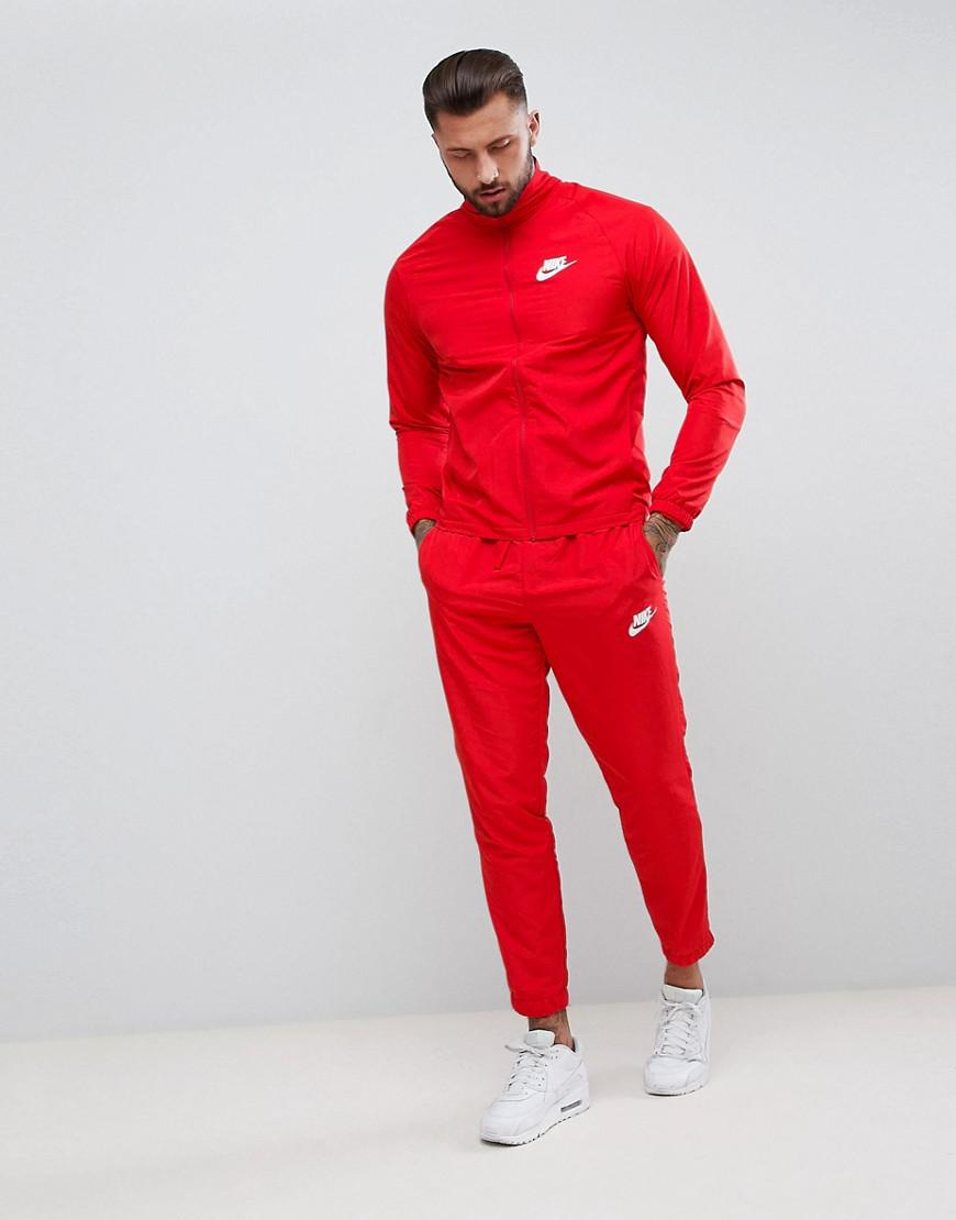 Nike Woven Tracksuit Set In Red 861778 657 In Red For Men Lyst