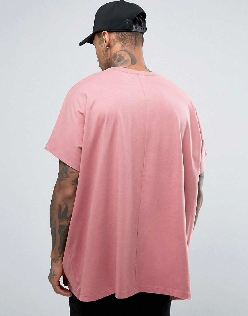 6dfa799c ASOS Extreme Oversized T-shirt In Heavy Jersey In Pink in Pink for ...