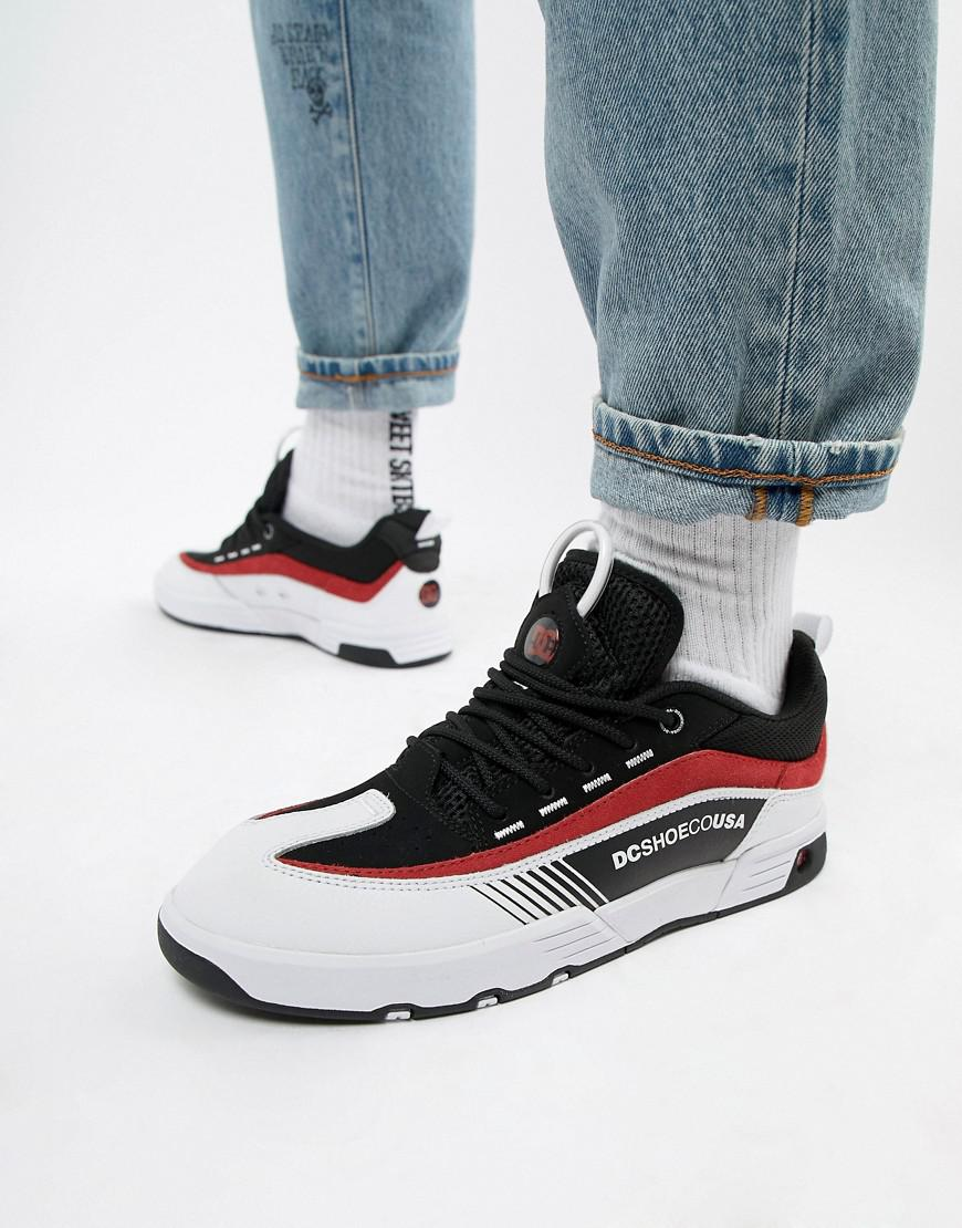 e974d16e7bb137 DC Shoes Legacy 98 Slim Trainer In Black & Red in Black for Men - Lyst