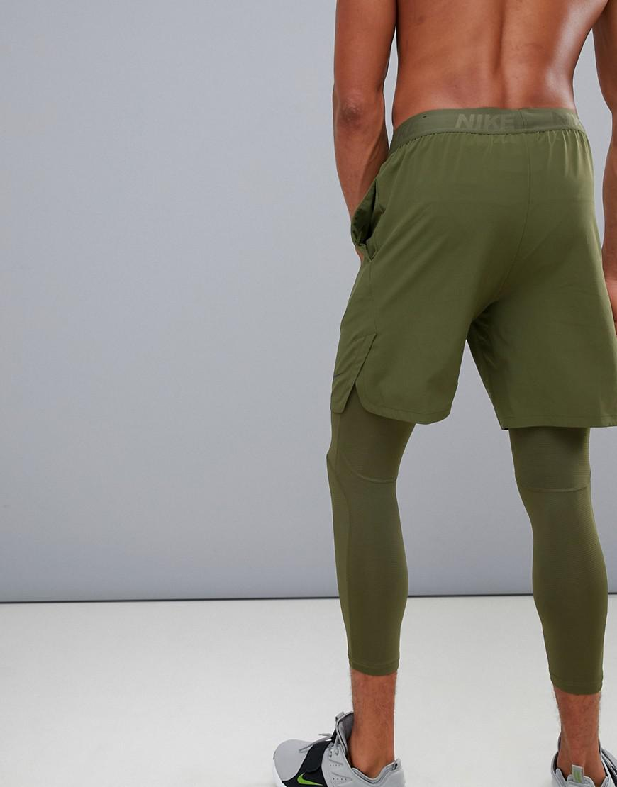 7f7838ecaa1c Nike - Black Flex Max 2.0 Vent Shorts In Khaki 886371-395 for Men -. View  fullscreen