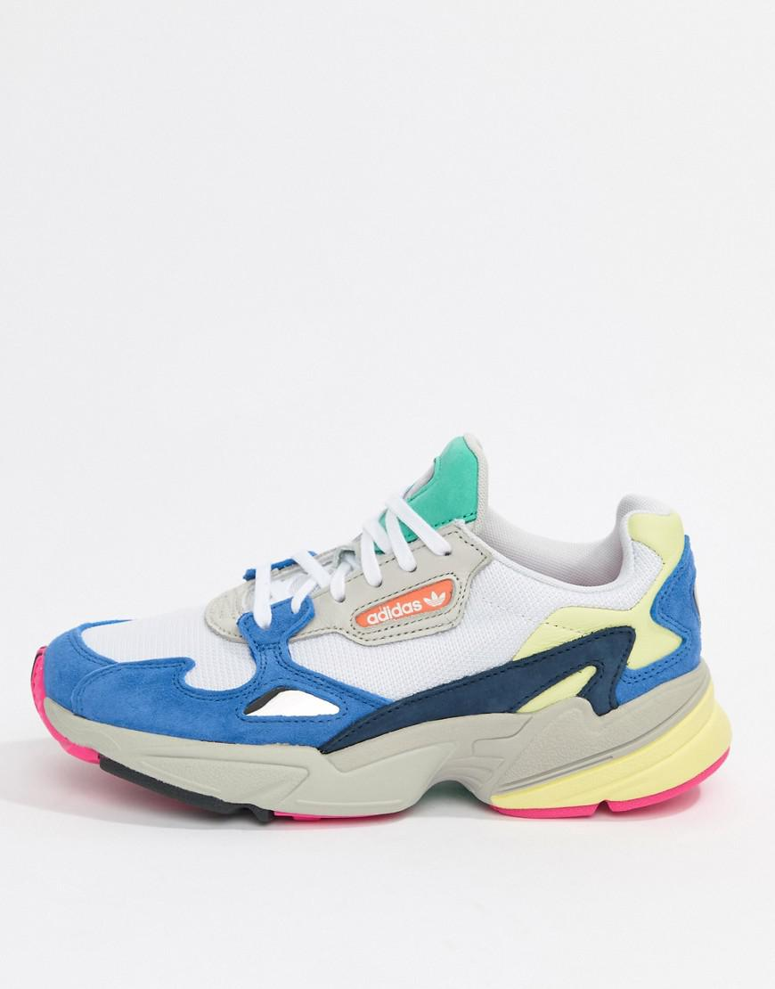 Adidas Originals Falcon Trainer In White Multi In White Lyst