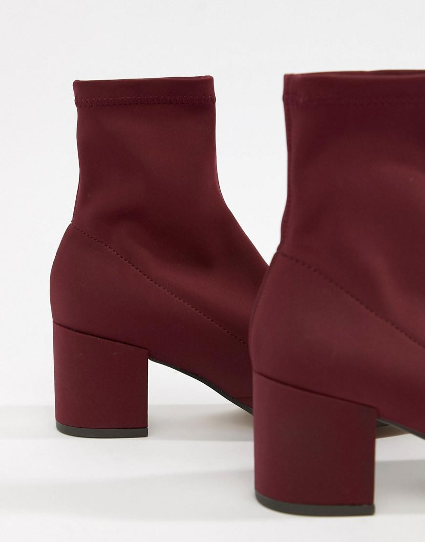 0755a2bdc6b Lyst - ASOS Rally Heeled Sock Boots in Red