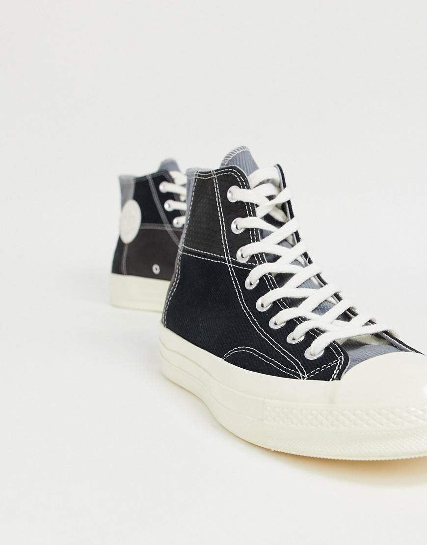 4e2c1048c89 Converse Chuck 70 Patchwork Plimsolls in Black for Men - Lyst