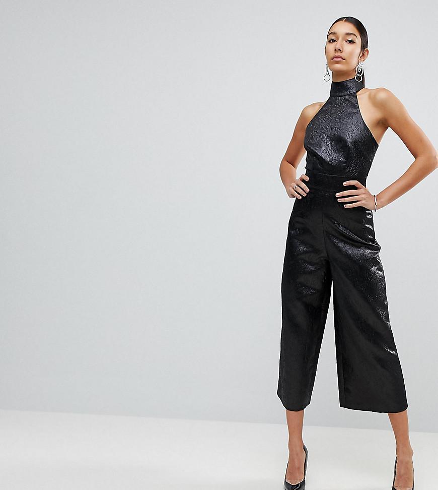 762483d5867d ASOS Jumpsuit In Jacquard With Buckle Detail in Black - Lyst