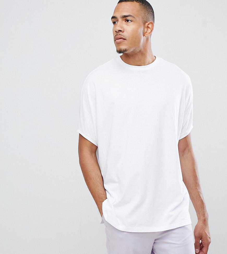 dd51c889 ASOS Tall Extreme Oversized T-shirt With Crew Neck In White in White ...