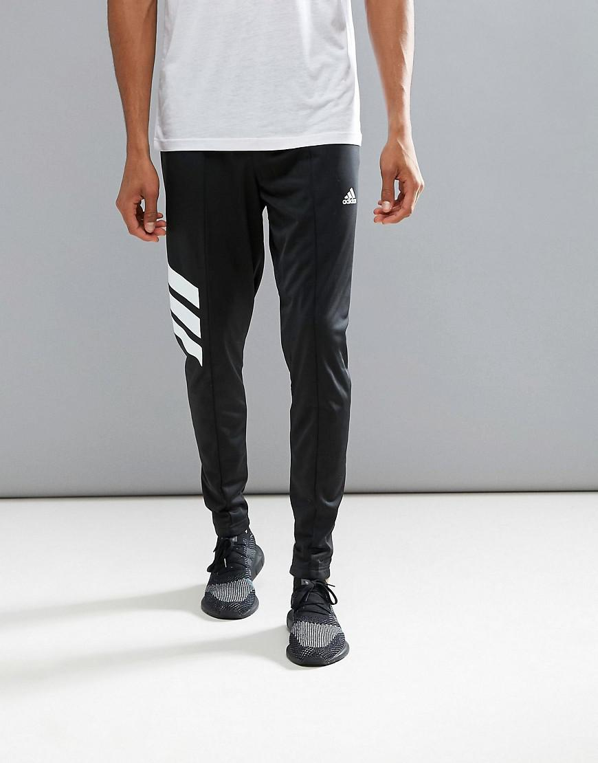 adidas Tango Skinny Joggers In Black Az9709 in Black for Men - Lyst 458dbb8f238