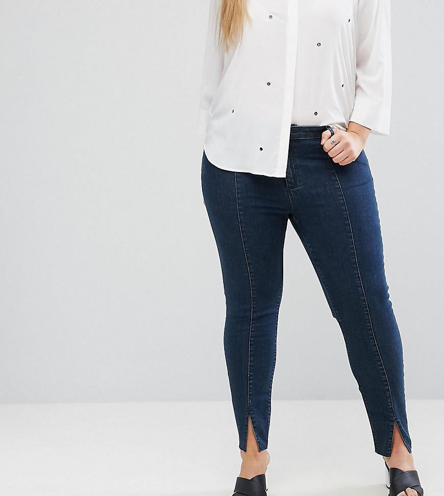 LISBON Mid Rise Skinny Jeans in Amelie Darkwash with Vent Hem - Amelie darkwash Asos FDc0o4nGk