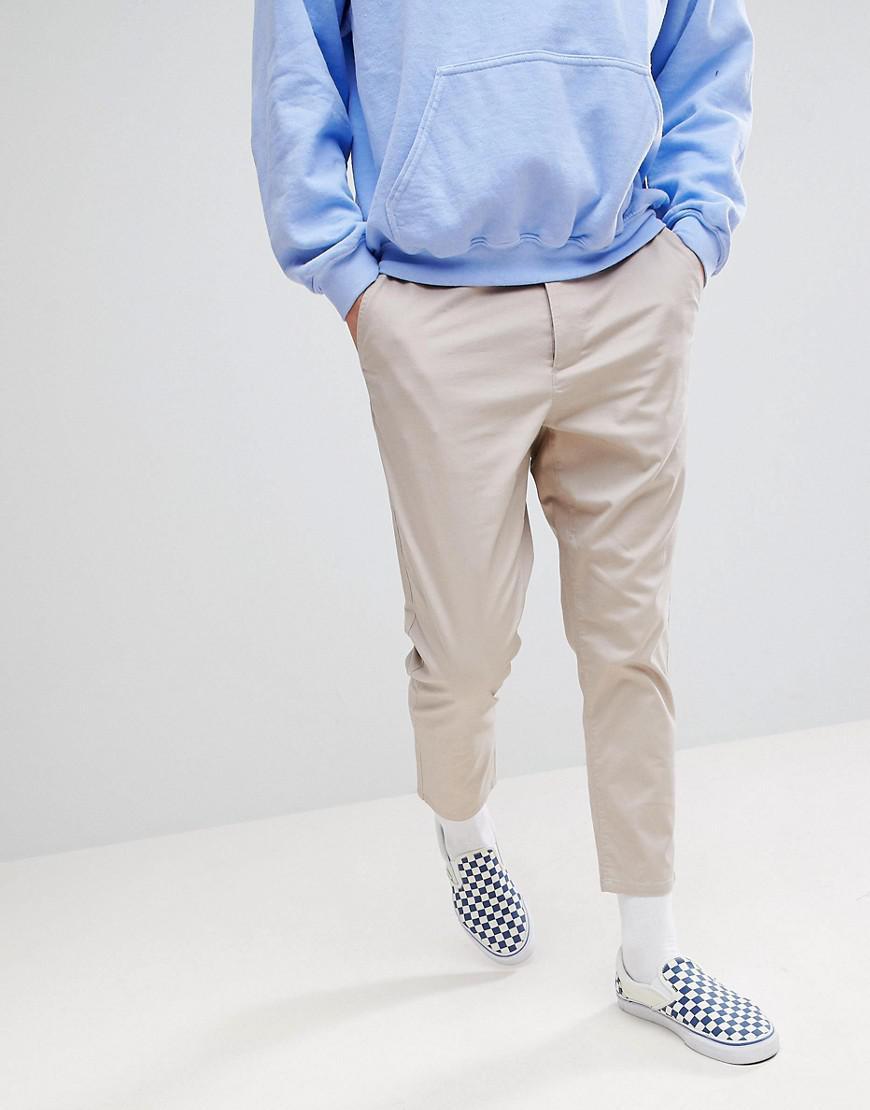 7db0f7157a7f Lyst - Pantalon chino court fusel Asos pour homme en coloris Neutre