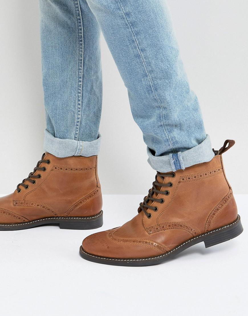 Red Tape Brogue Boots - Brown in Brown for Men - Lyst