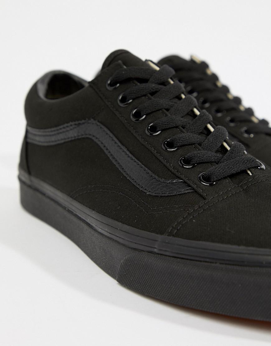 vans old skool trainers in black vd3hbka