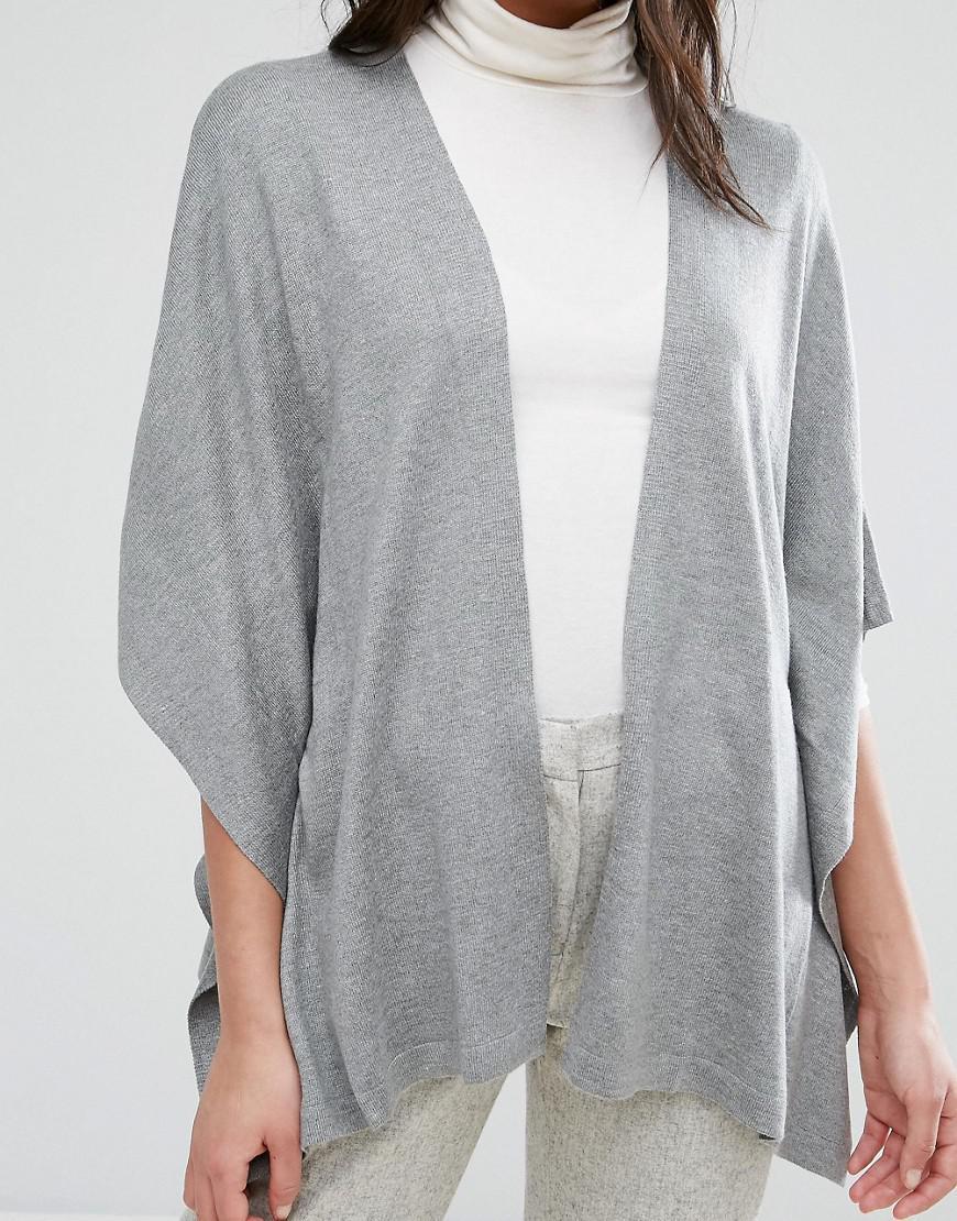 Lavand Kimono Sleeve Cardigan in Gray   Lyst