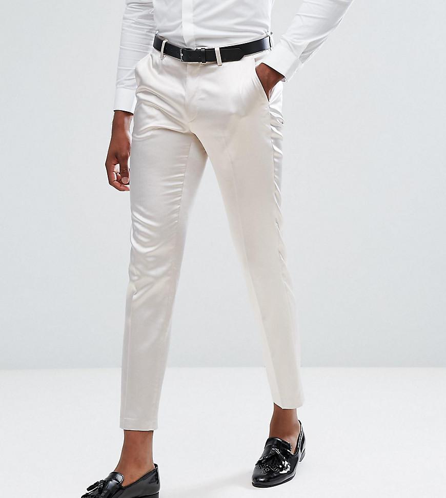 Pantalon Intelligent Mariage De Culture Maigre En Coton Bleu Clair - Satins Asos Bleu Clair qPuhfHegjk