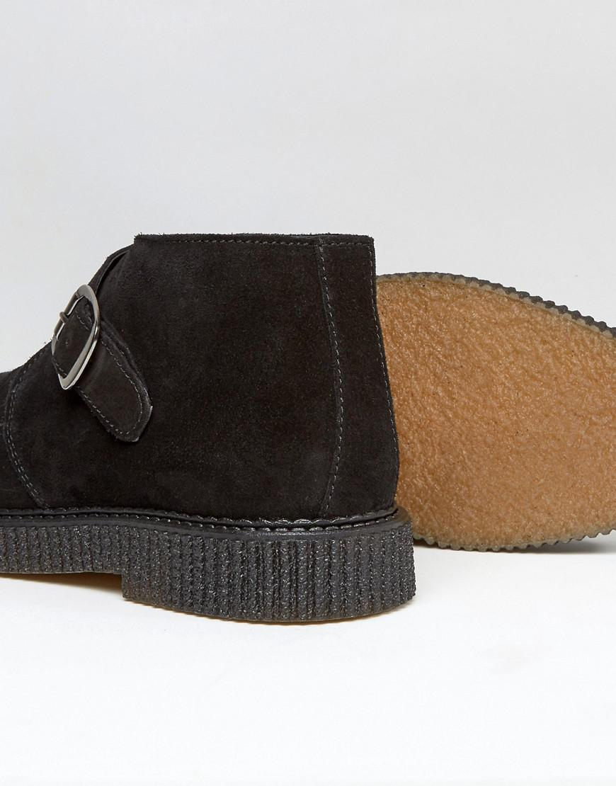 Leather Creeper Monk Boots - Black Religion Free Shipping Cheap Price Explore lafIwE5gd8
