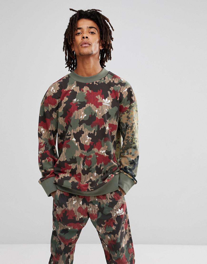 b7a21a9cb adidas Originals X Pharrell Williams Hu Hiking Sweat With Back Print ...