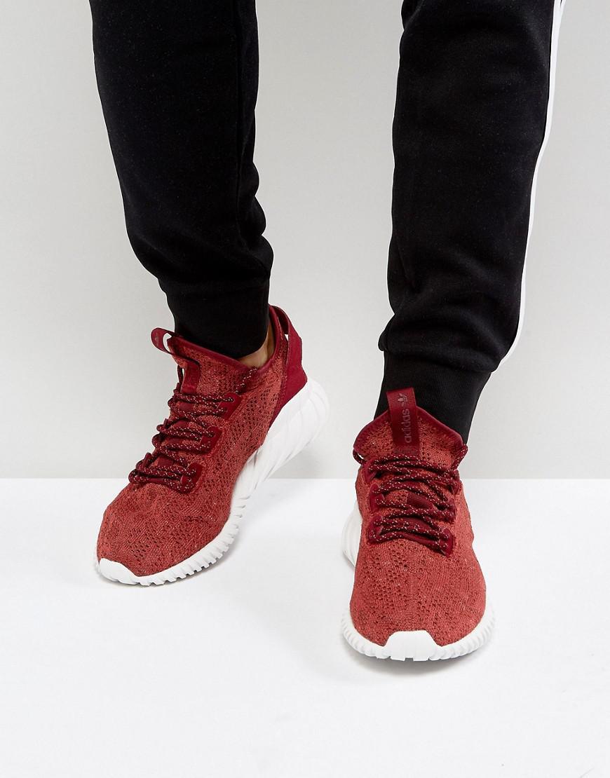 324c8e41c804 adidas Originals Tubular Doom Sock Primeknit Sneakers In Red By3560 ...
