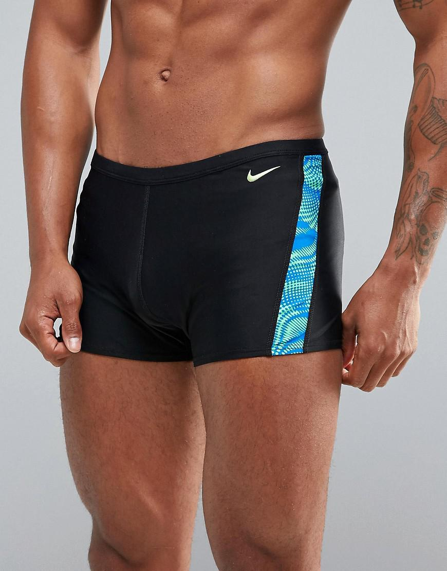 30061ffeb7116 Nike Swimming Trunks In Black With Far Out Print Ness7115-356 in ...