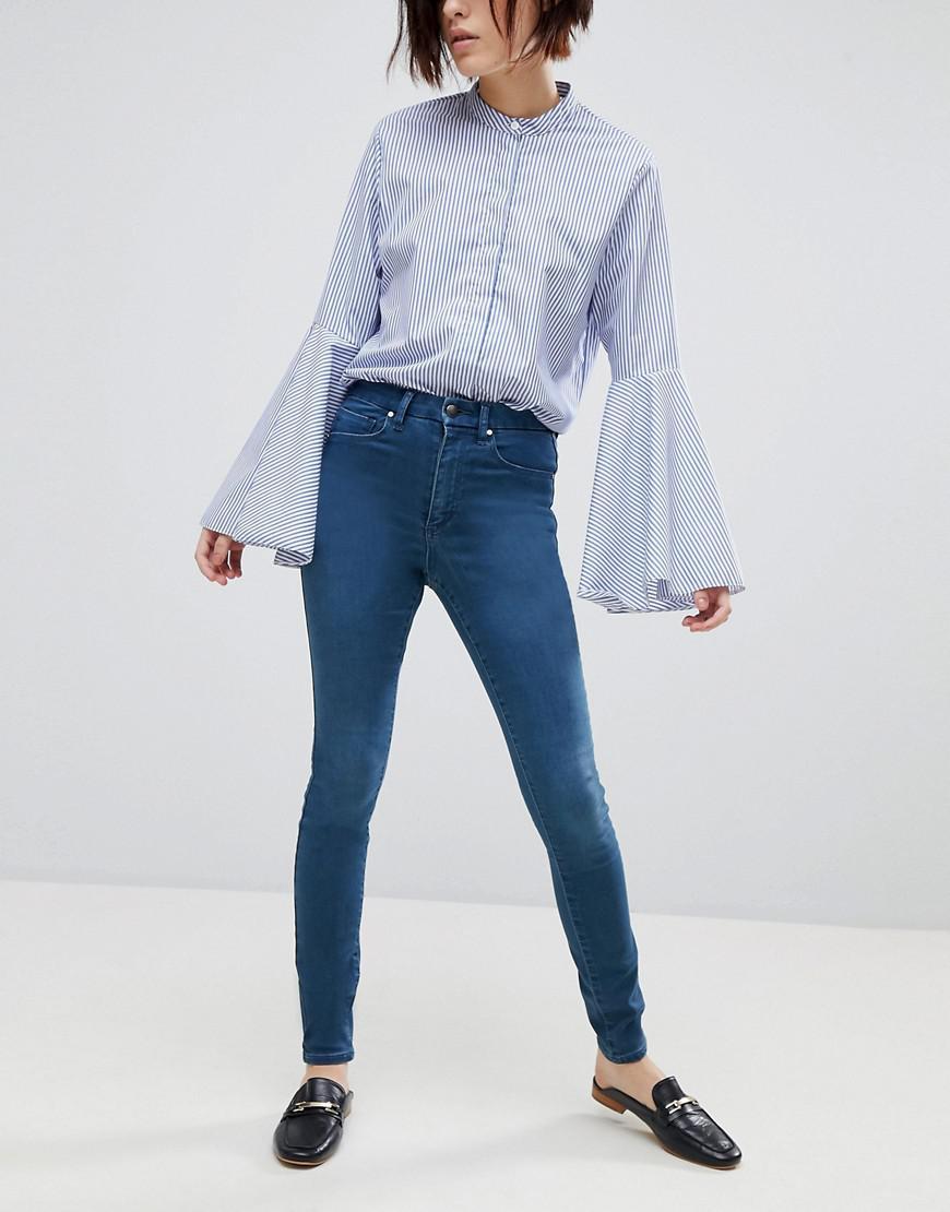 96e540195c39 Lyst - ASOS  sculpt Me  High Rise Premium Jeans In Eden in Blue