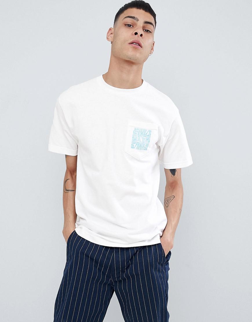 6d4ddff343 Primitive Skateboarding Pocket T-shirt With Warped Back Print In ...