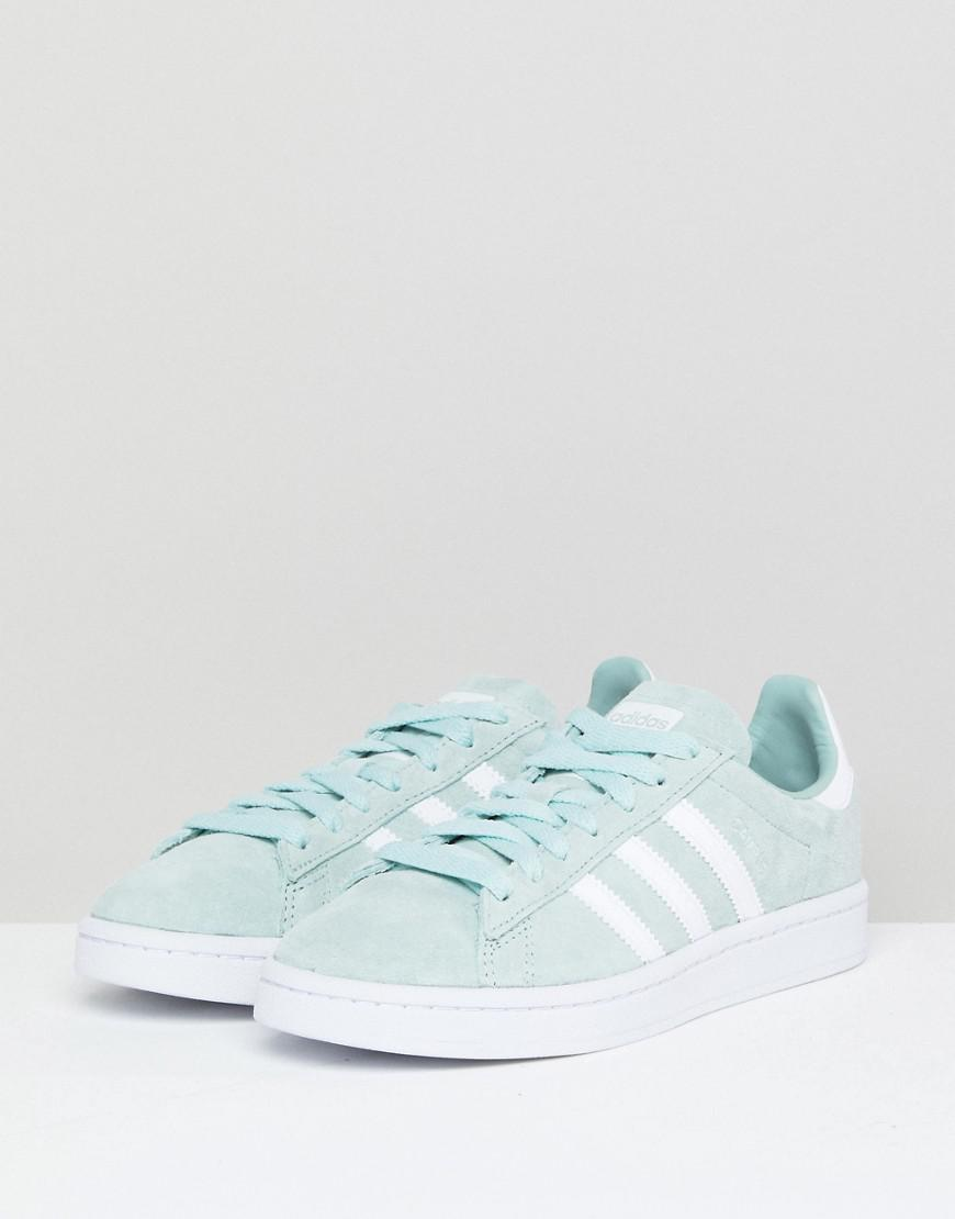 6f1c6a279ce0 Lyst - adidas Originals Campus Trainers In Mint in Green