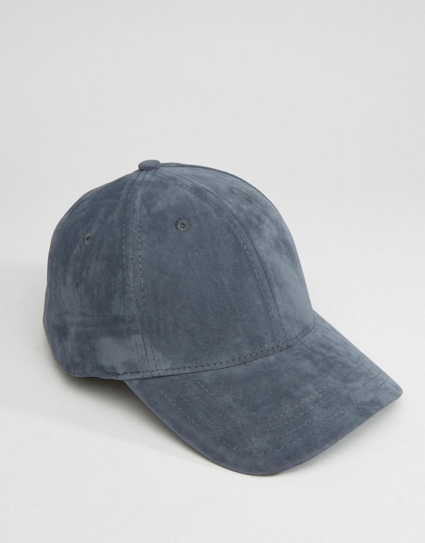 29552f4c7c4 Lyst - New Look Faux Suede Baseball Cap In Blue in Blue for Men