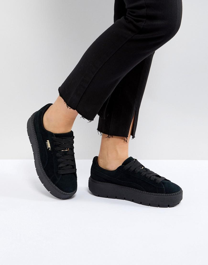 Puma Women's Trace Suede Platform Sneakers RPmfFVSj