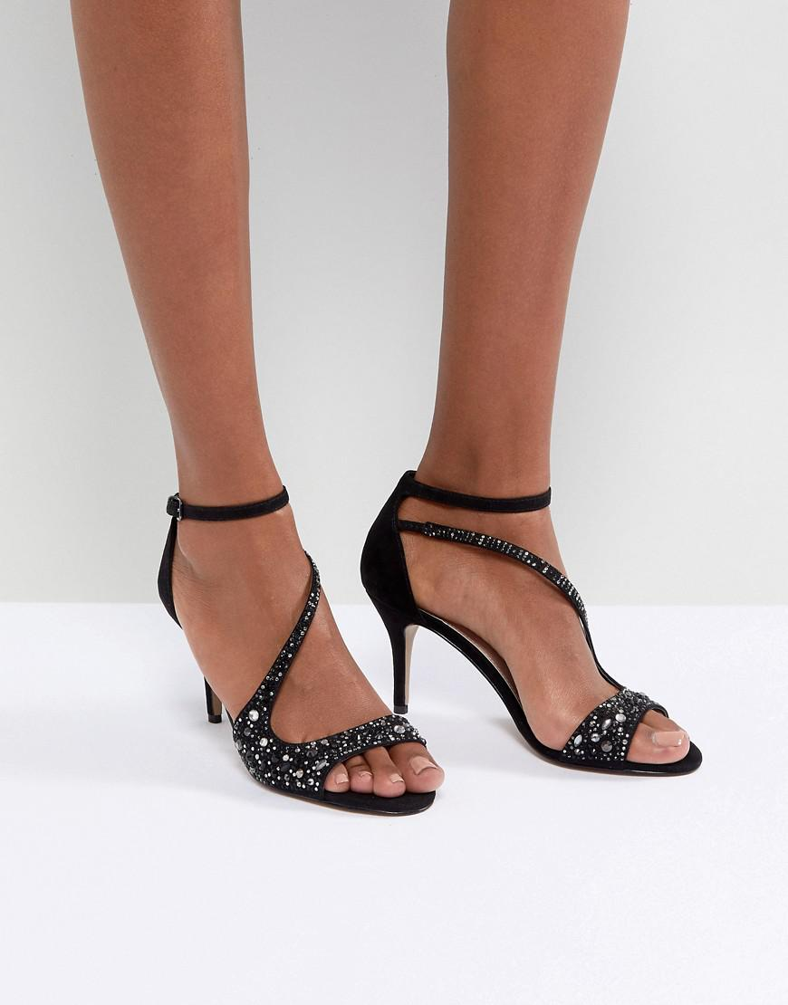 Barely There Jewelled Heeled Sandal - Gunmetal Carvela Cheap Price Cost Cheap Sale Top Quality Cheap Price Pre Order Cheap Sale Great Deals pUbBbHAxb
