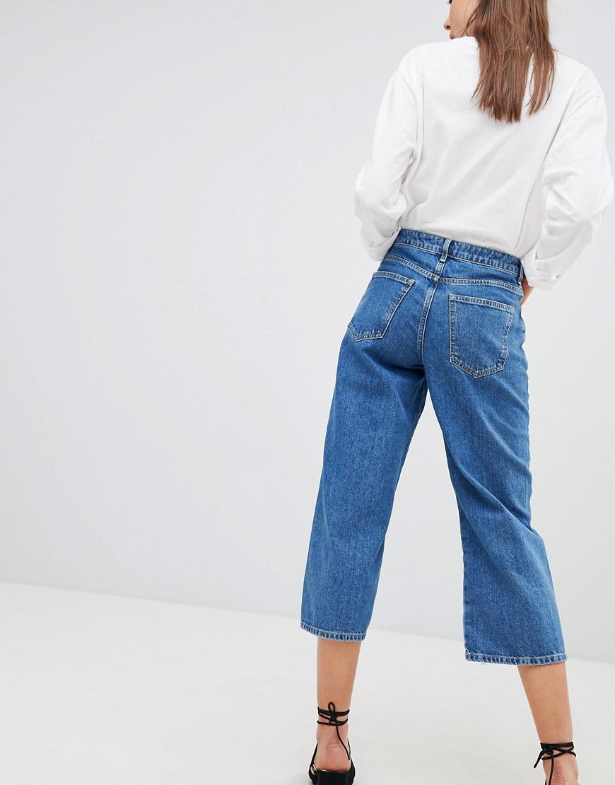 83b1d649f59 Lyst - New Look Wide Leg Jeans in Blue
