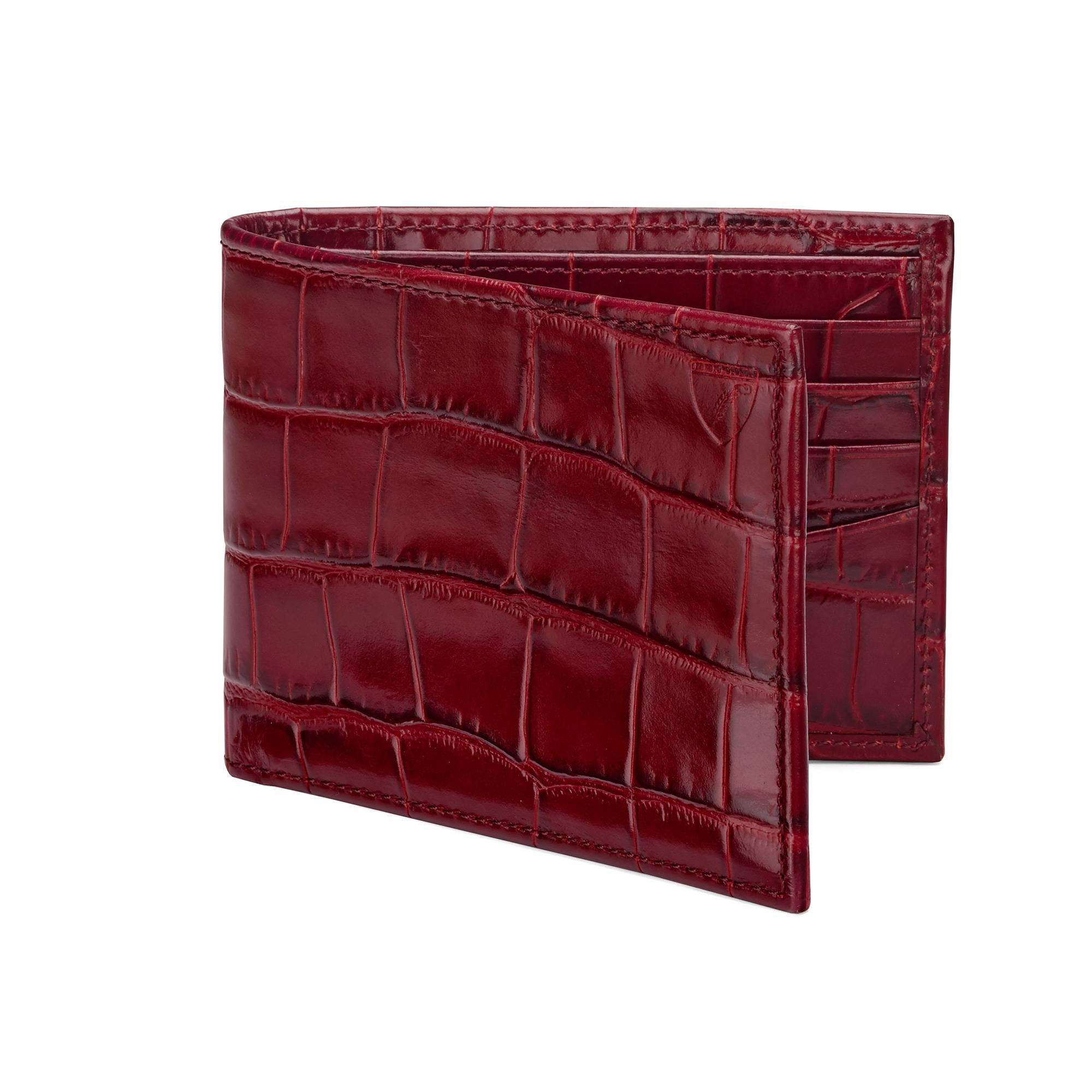 4e828a25238f Aspinal of London Leather Billfold Wallet in Red for Men - Lyst