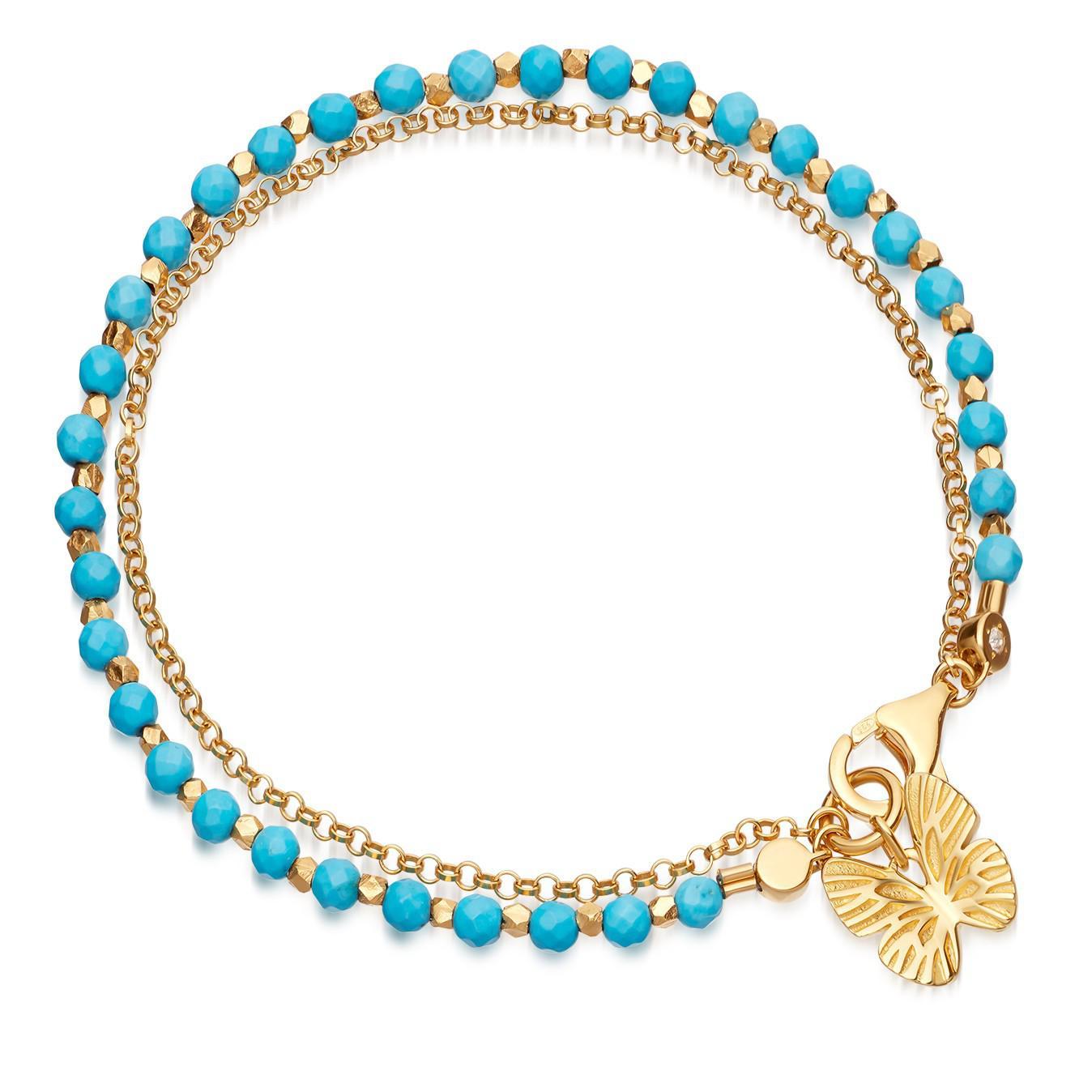 Butterfly Biography bracelet - Blue Astley Clarke i1PxG5iStc