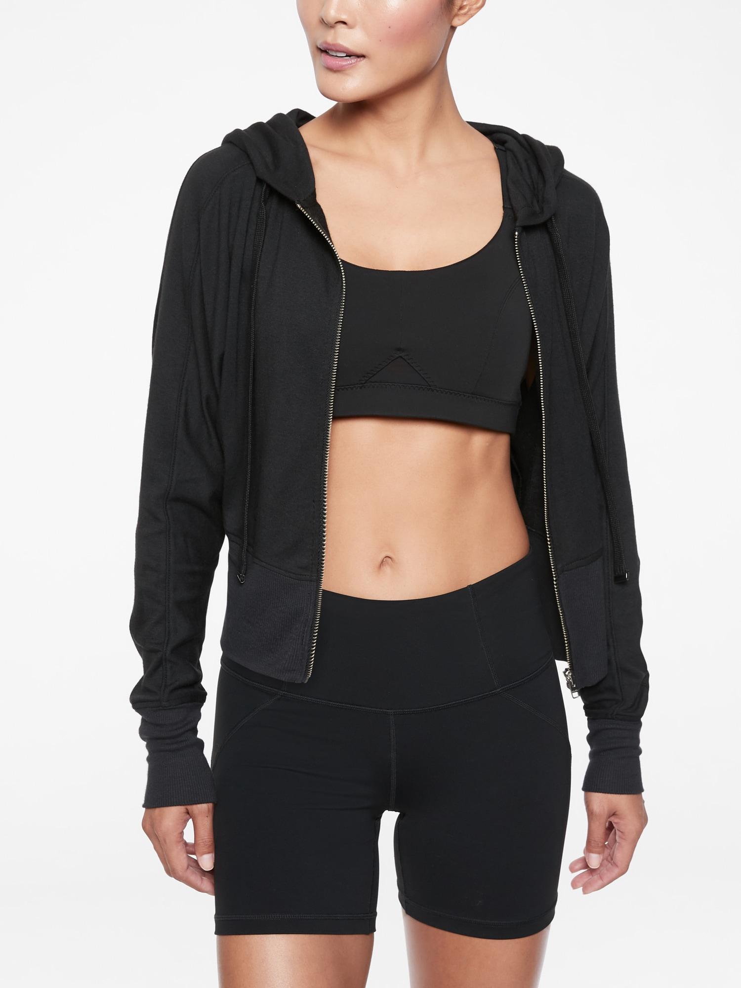 27f00c91863ee Lyst - Athleta Rhythmic Hoodie in Black