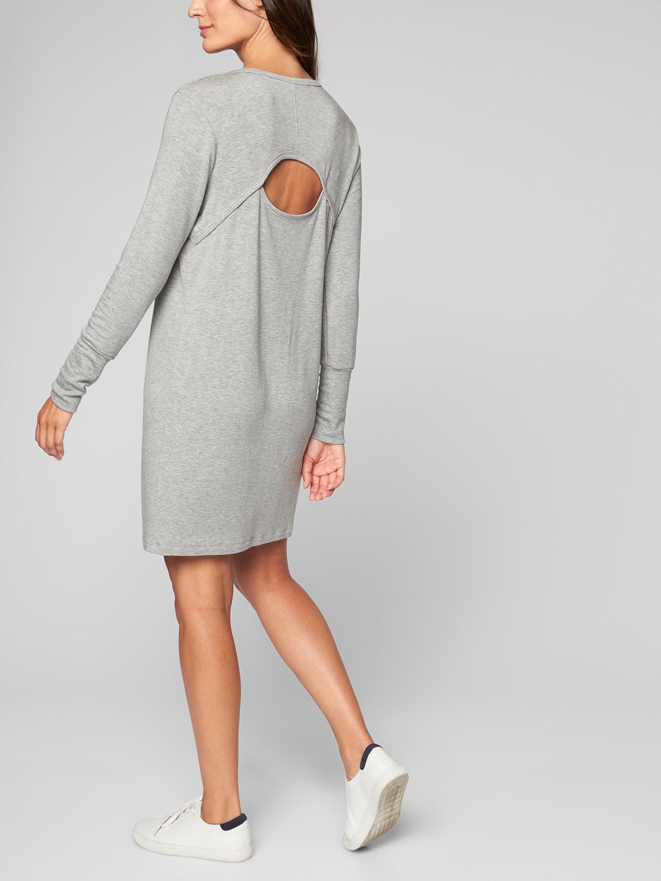 4596895cdf0 Lyst - Athleta Crossover Sweatshirt Dress in Gray