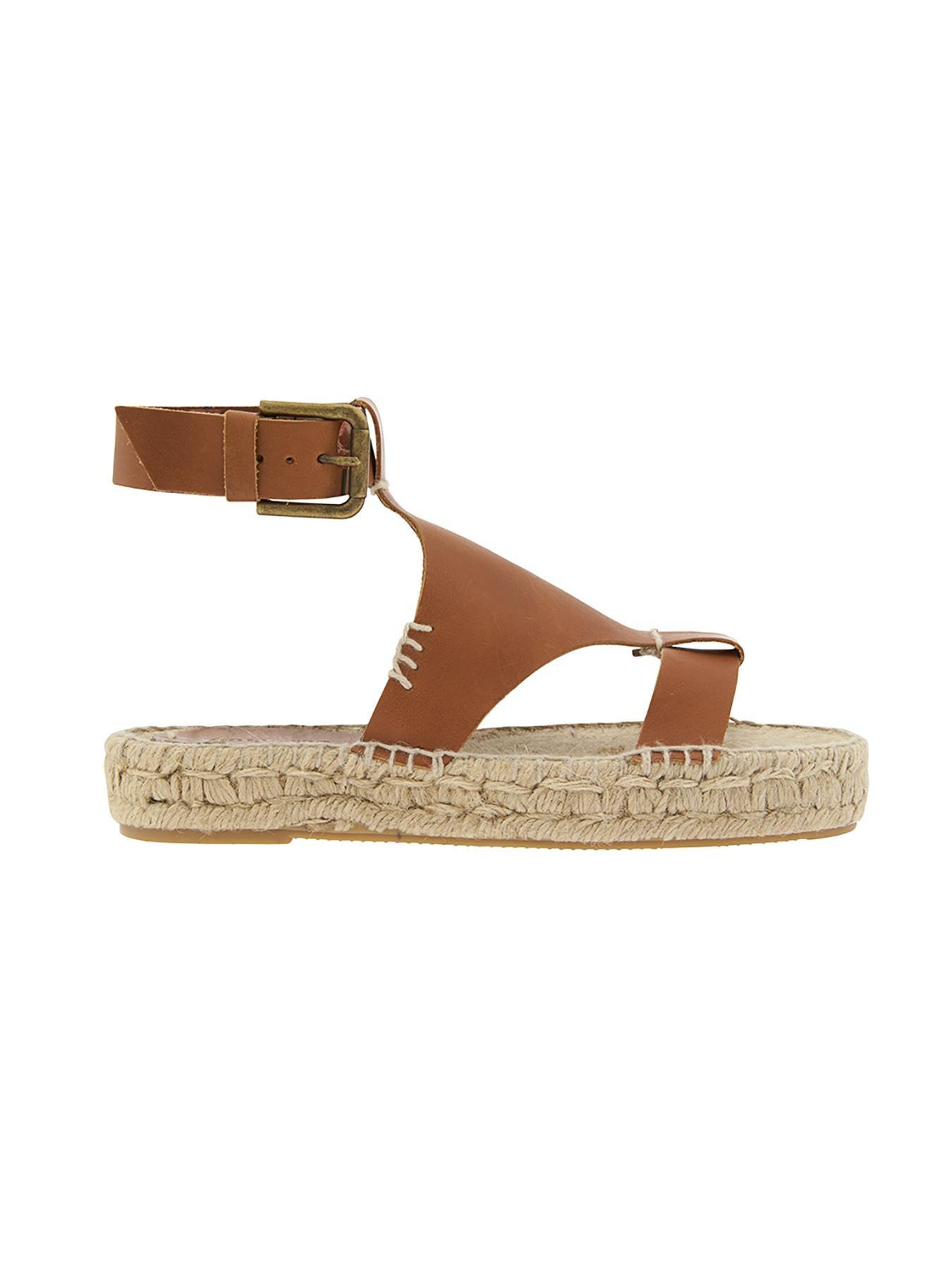 0ec33bba396 Lyst - Athleta Banded Shield Open Toe Sandal By Soludos®