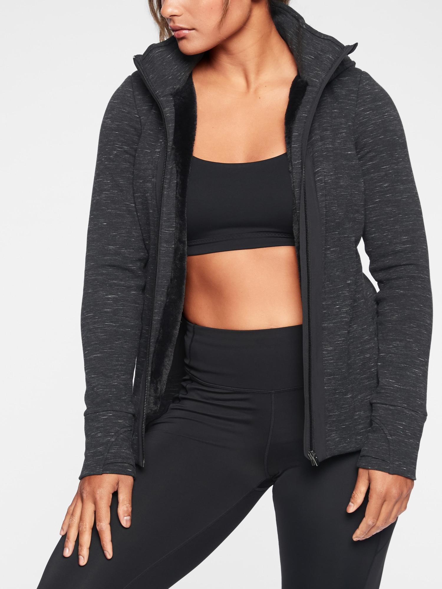 9ff15d63dcdea Lyst - Athleta Luxe Victory Hoodie in Black