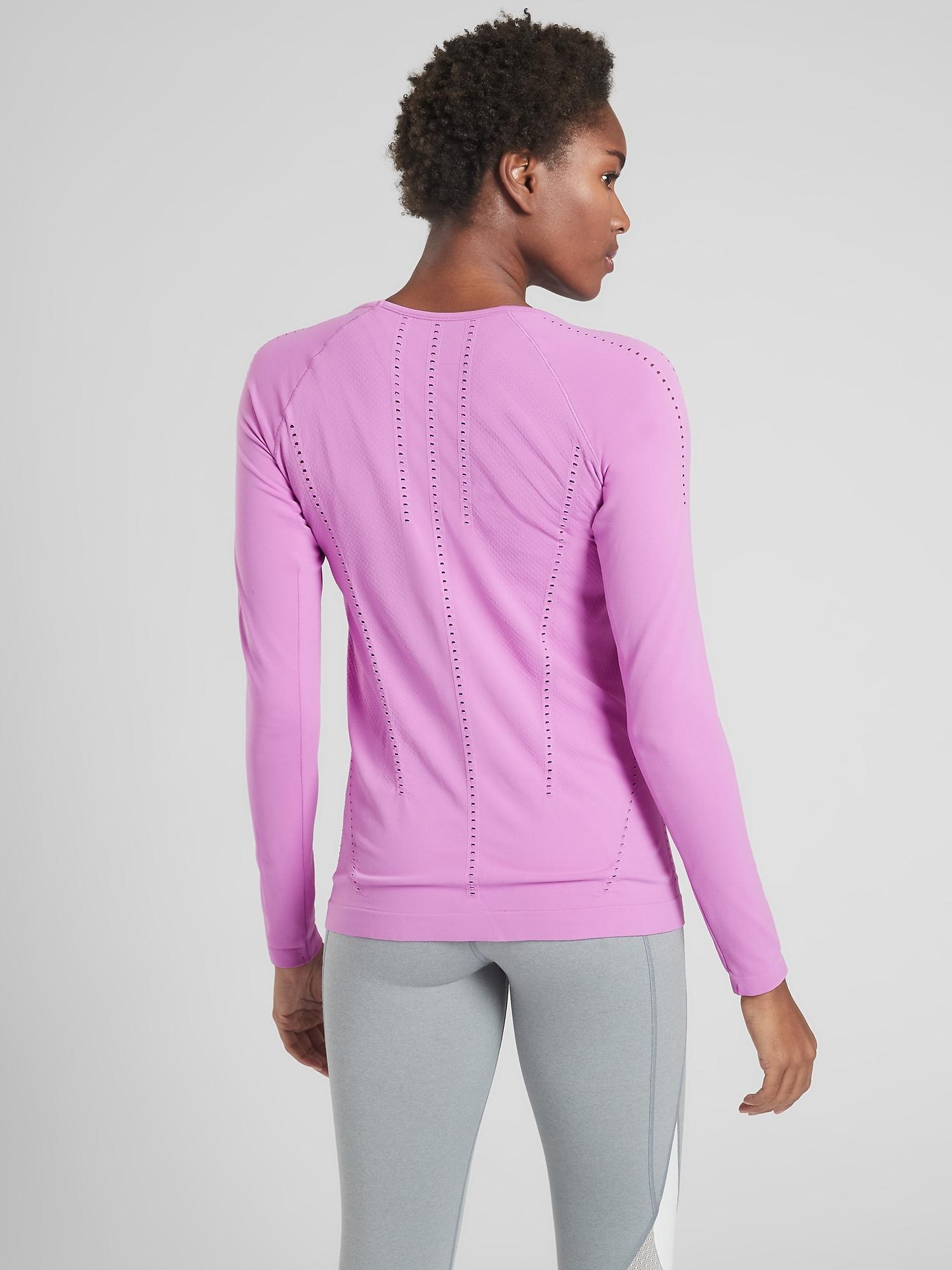 4ea1ca5fd238 Lyst - Athleta Foothill Long Sleeve in Purple