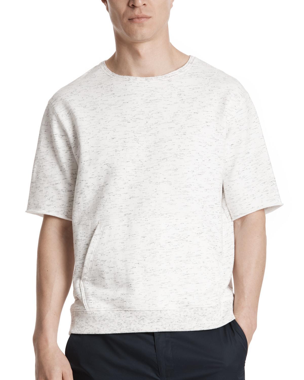 Atm Textured Cotton Short Sleeve Sweatshirt in White for Men | Lyst