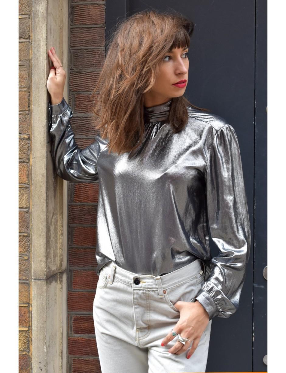 b59b3fbcfe1f8 Samsøe   Samsøe Terin Silver Shirt in Metallic - Lyst