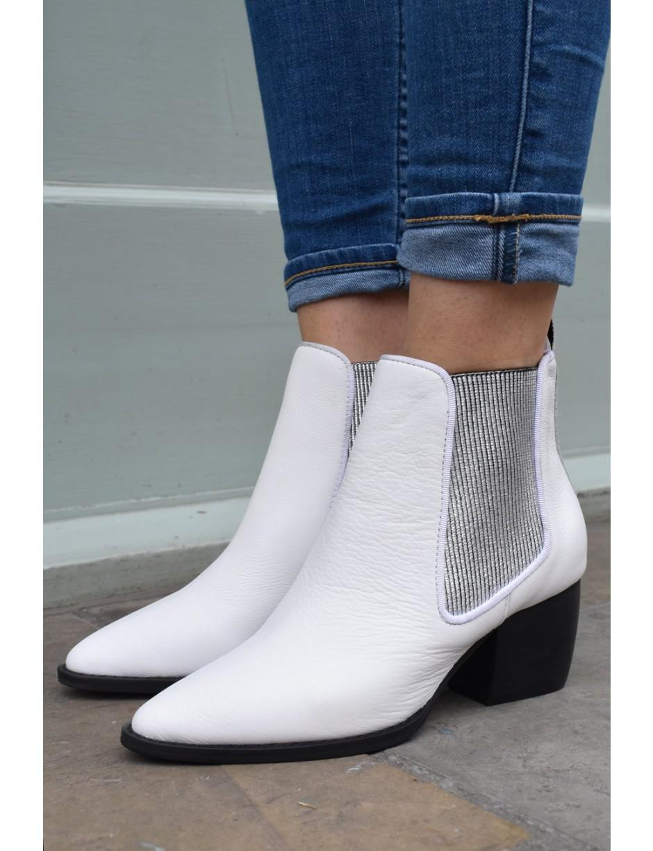 5be389caa9e37a Sol Sana Dials White   Silver Boots in White - Lyst