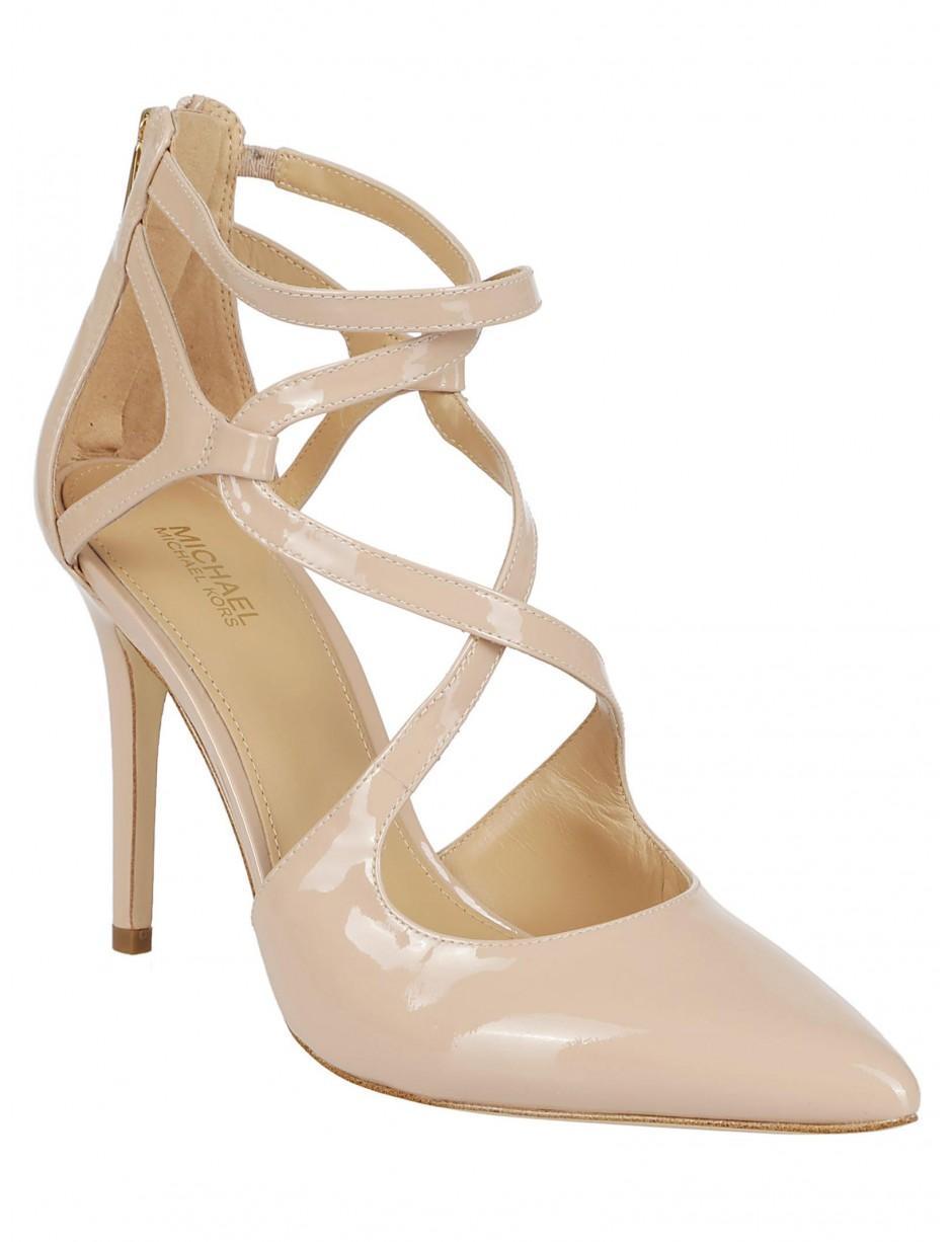e436d45dd65ea MICHAEL Michael Kors Michael Kors Natural Patent Leather High-heel ...