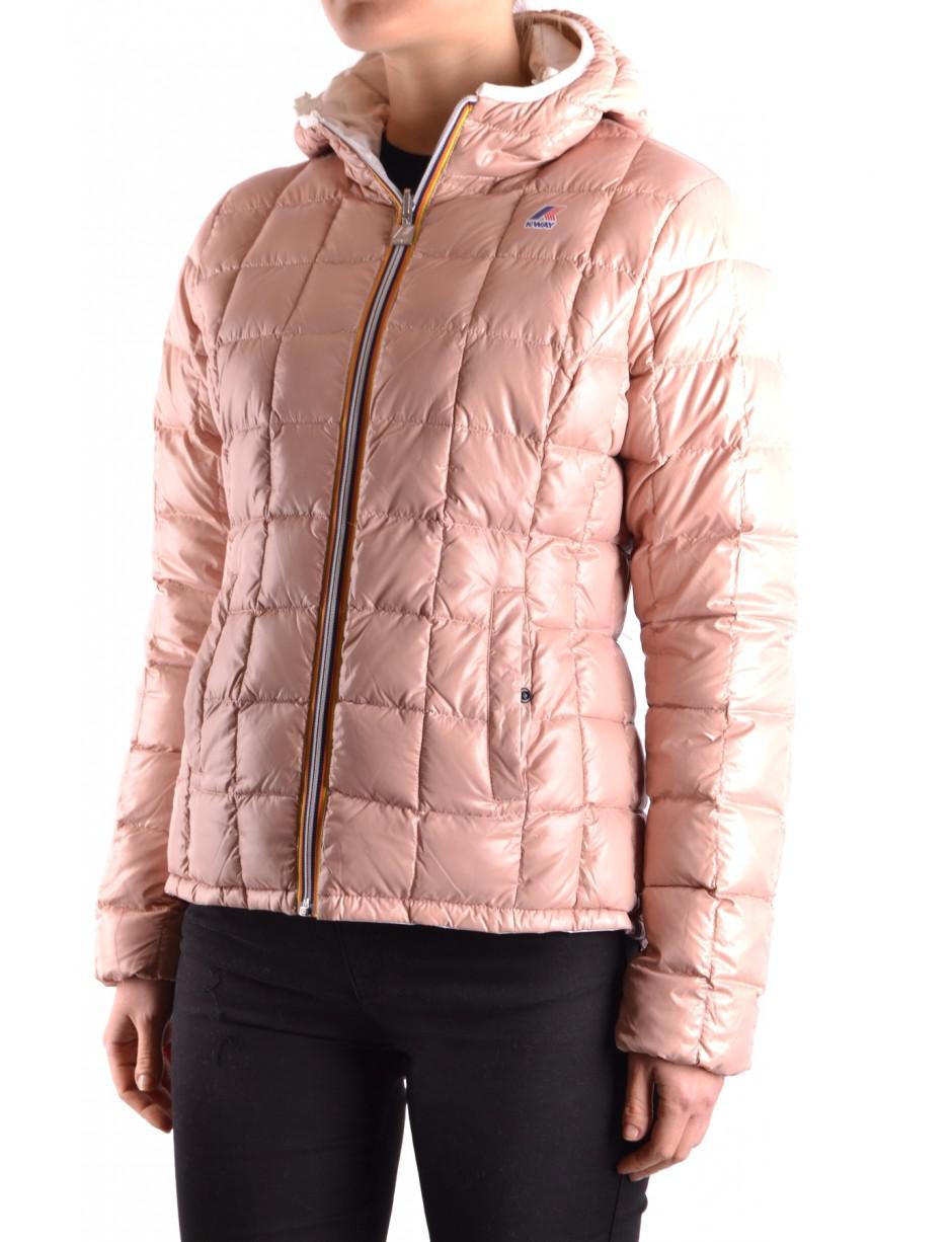 K-Way Jacket in Pink - Lyst 4632a72d0f