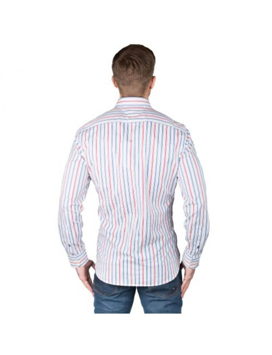 8ffd8aa90073 Lyst - Tommy Hilfiger White Stripe Shirt in White for Men