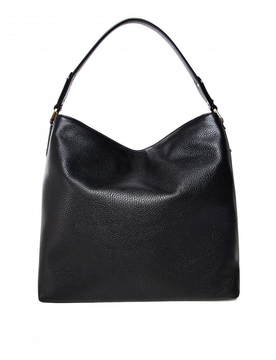 af4d8ae6adc9 MICHAEL Michael Kors Evie Large Pebbled Leather Shoulder Bag in Black - Lyst